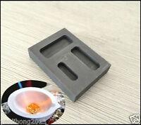 1/2 1 OZ SILVER Ingot Bar Mold Casting Refining Scrap + Melting Crucible Set