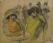 Original Jacob Steinhardt 1923 Berlin Signed Painting Germany Israel Jewish Art
