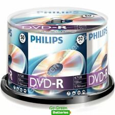 50 x Philips DVD-R Blank Recordable Discs 4.7GB 120 Mins 1-16x Speed Spindle