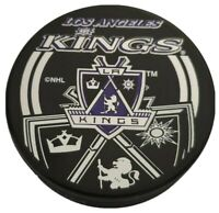 LOS ANGELES KINGS NHL INGLASCO + VEGUM OFFICIAL HOCKEY PUCK SHADOW LOGO 🇸🇰
