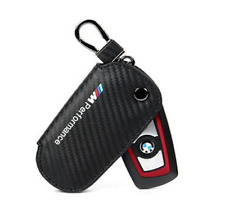 Black M performance Carbon Fiber Key Holder Cover Case For BMW 1 3 4 5 7 X3 X4 M
