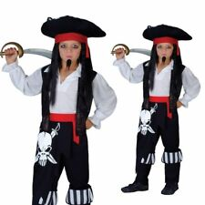 Childs Pirate Boy Buccaneer Caribbean Kids Fancy Dress Costume Ages 3 to 13