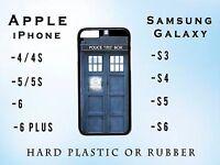 Doctor Who Tardis Call box Apple iPhone Samsung Galaxy Phone Case Plastic Rubber