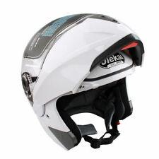 Full-face XXL Motorradhelm Klapphelm Rollerhelm Schutz Helm Integralhelm Weiß DE