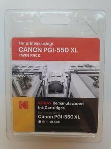 Kodak Canon PGI-550 XL Twin Pack Black Remanufactured Ink Cartridges (2 Total)