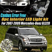 8Pc Error Free White Interior LED Light Kit for 2007-2009 Mercedes-Benz GL320