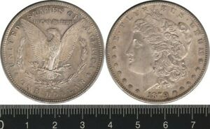 USA: 1879S One Dollar Morgan Dollar silver $1 Toning over prooflike fields UNC