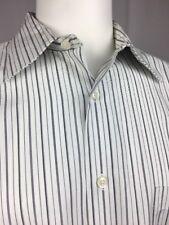 Pronto Uomo Men's Striped Long Sleeve Dress Shirt Large 16 -16 1/2 32/33