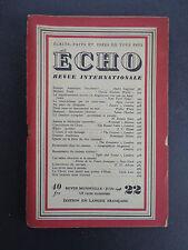 Lot: Echo Revue Internationale, Mai '48, Juin '48, Juillet '49 INV 2145