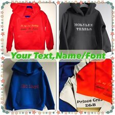 Personalized Your Text,Name Baby,Kids Hoodie,Outfit,Jumper Birthday Present,Gift