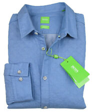 BOSS GREEN LEiSURE SHiRT Bodgan In L (Regular Fit) Light Blue Quilted