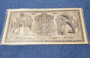 1935 Netherlands indies 25 Gulden Banknote