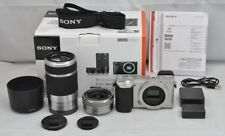SONY A6000 Mirrorless Digital Camera Double Zoom Lens Kit Silver Japan Model EMS