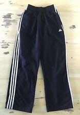 ADIDAS -  Mens Navy Blue 3-Stripe Running Training Soccer Gym Pants, SMALL