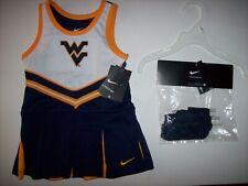 Nike Cheerleader Dress Panty 2pc Girls 2Toddler Team West Virginia NCAA NWT
