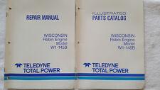Wisconsin Robin Engine W1-145B Repair Manual & Illustrated Parts Catalog >Nice<