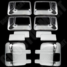 Chrome Telescopic Mirror W/Sign Door handles covers psg for FORD F-250/350 08-16