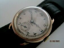 Vintage 20's Gold Filled Crusader Swiss Gents Mechanical Trench Watch.