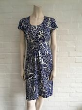 Fiona Clare London Duchess of Cornwall Favourite Japanese Silk Dress S Uk 8 - 10