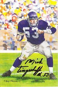 Mick Tingelhoff Signed/Autographed Goal Line Art Card