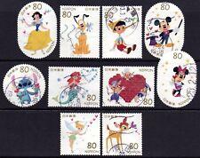 Japan 2012 80y Disney Characters set of 10 Fine Used