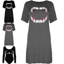 Halloween Viscose Short Sleeve Dresses for Women