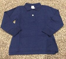 New NWT Gymboree Navy Blue Polo Shirt Boys Long Sleeve School Uniform Size 4