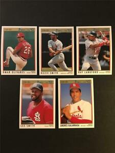 1992 OPC O-Pee-Chee Premier St. Louis Cardinals Team Set 5 Cards