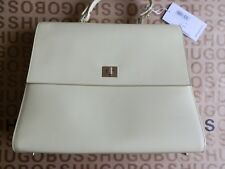 NEW HUGO BOSS WOMANS PASTEL YELLOW LEATHER SHOULDER CASE CARRY BAG HANDBAG £1090