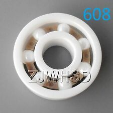 608 Full Ceramic Zirconia Oxide Bearing ZrO2 8 22 7 mm Skateboard Skate