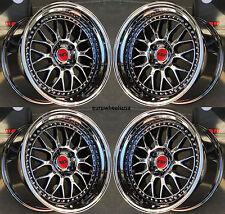 "18"" ESR SR01 Black Chrome Wheels 18x8.5 +30/18x9.5 +35 For BMW E46 330 325i 328i"