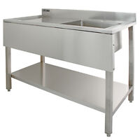 Lavandino per Cucina Commerciale in Acciaio Vasca a Destra Lavandino Risorante