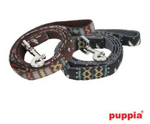 ONE LEFT Puppia Dog LEASH - MATCHES SNOWBALL Harness - FAIR ISLE - BROWN - LRG