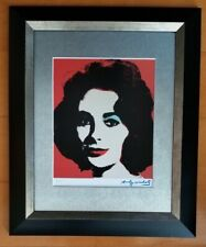 ANDY WARHOL ORIGINAL 1984 SIGNED NUMBERED LIZ TAYLOR PRINT MATTED 11X14