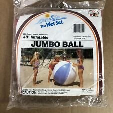"VINTAGE New Intex INFLATABLE JUMBO 48"" BEACH BALL The Wet Set 1983 80's"