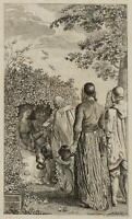 CHODOWIECKI (1726-1801). Heinrich I. beim Vogelfang; Druckgraphik