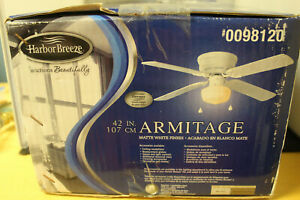 """Habor Breeze ceiling fan , matte white..42"""""""