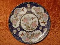 Porcelana Placa Decorativa - Crisantemos - Nippon / Japón