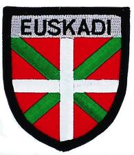 Patch écusson brodé BLASON ARMOIRIE EUSKADI PAYS BASQUE  Drapeau Thermocollant