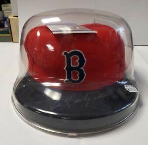 Carl Yastrzemski Signed New Era Boston Red Sox Hat in Case with JSA COA