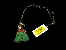 Betsey Johnson Hi HO Holiday Cat Necklace Z3