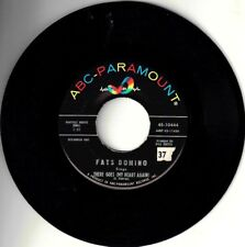 """FATS DOMINO! - """"THERE GOES"""" B/W """"CAN'T GO ON WITHOUT YOU? MONO 45 VG+ VPI CLEAN!"""