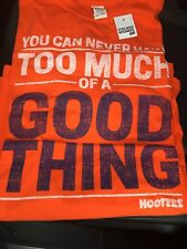 HOOTERS 'GOOD THING' ORANGE T-SHIRT SIZE XL CASUAL SHORT SLEEVE BRAND NEW