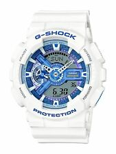 BRAND NEW CASIO G-SHOCK GA110WB-7A WHITE/BLUE ANA-DIGI WATCH NWT!!!!!