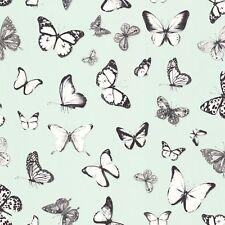 Rasch Textil Tapete 138876 Mariposas Verde Claro Beige Papel Pintado de Fibra