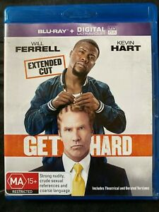 Get Hard - Blu Ray - Will Ferrell - Kevin Hart - Free Postage - Used