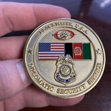 RARE Blackwater Diplomatic Security Service Embassy Protection Challenge Coin