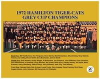 CFL 1972 Hamilton Tiger Cats Grey Cup Team Picture 8 X 10 Photo Picture
