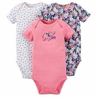 New Girl Just One You Carter's 3 Pack Bodysuits Elephant Floral Bird 9m 12m 18m