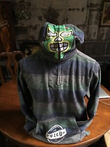 Volcom Mexican wrestler Luchador Mask Hoodie XL